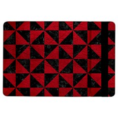 Triangle1 Black Marble & Red Leather Ipad Air 2 Flip by trendistuff