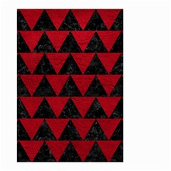 Triangle2 Black Marble & Red Leather Small Garden Flag (two Sides) by trendistuff