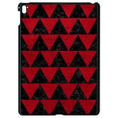 Triangle2 Black Marble & Red Leather Apple Ipad Pro 9 7   Black Seamless Case by trendistuff