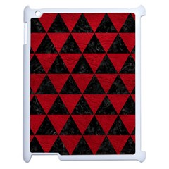 Triangle3 Black Marble & Red Leather Apple Ipad 2 Case (white) by trendistuff