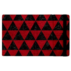 Triangle3 Black Marble & Red Leather Apple Ipad 3/4 Flip Case by trendistuff