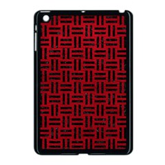 Woven1 Black Marble & Red Leather Apple Ipad Mini Case (black) by trendistuff