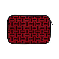 Woven1 Black Marble & Red Leather Apple Ipad Mini Zipper Cases by trendistuff