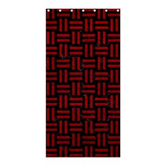 Woven1 Black Marble & Red Leather (r) Shower Curtain 36  X 72  (stall)  by trendistuff