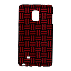 Woven1 Black Marble & Red Leather (r) Galaxy Note Edge by trendistuff