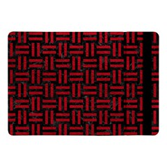 Woven1 Black Marble & Red Leather (r) Apple Ipad Pro 10 5   Flip Case by trendistuff