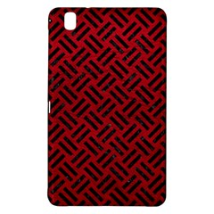 Woven2 Black Marble & Red Leather Samsung Galaxy Tab Pro 8 4 Hardshell Case by trendistuff