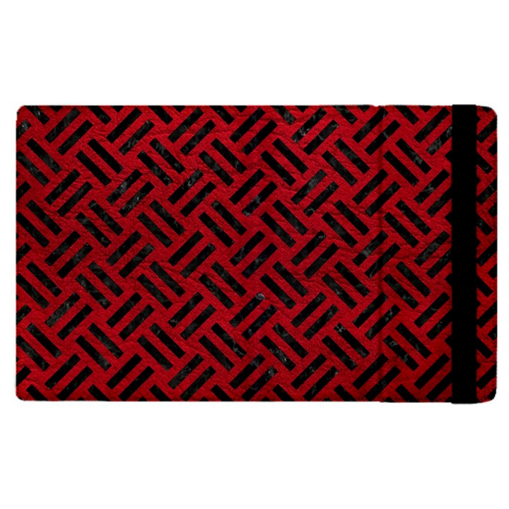 WOVEN2 BLACK MARBLE & RED LEATHER Apple iPad Pro 12.9   Flip Case