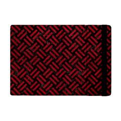 Woven2 Black Marble & Red Leather (r) Ipad Mini 2 Flip Cases by trendistuff