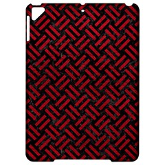 Woven2 Black Marble & Red Leather (r) Apple Ipad Pro 9 7   Hardshell Case by trendistuff