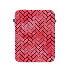 Brick2 Black Marble & Red Watercolor Apple Ipad 2/3/4 Protective Soft Cases by trendistuff