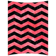 Chevron3 Black Marble & Red Watercolor Back Support Cushion by trendistuff