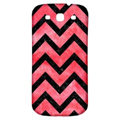 Chevron9 Black Marble & Red Watercolor Samsung Galaxy S3 S Iii Classic Hardshell Back Case by trendistuff