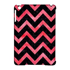 Chevron9 Black Marble & Red Watercolor (r) Apple Ipad Mini Hardshell Case (compatible With Smart Cover) by trendistuff