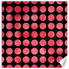 Circles1 Black Marble & Red Watercolor (r) Canvas 16  X 16   by trendistuff