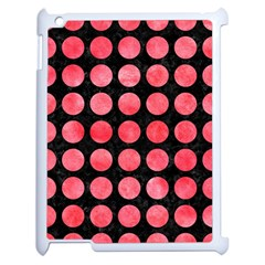Circles1 Black Marble & Red Watercolor (r) Apple Ipad 2 Case (white) by trendistuff