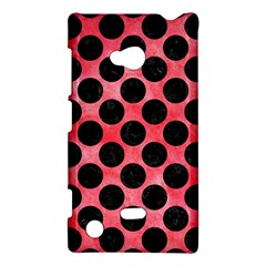 Circles2 Black Marble & Red Watercolor Nokia Lumia 720 by trendistuff
