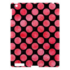 Circles2 Black Marble & Red Watercolor (r) Apple Ipad 3/4 Hardshell Case by trendistuff