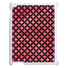 Circles3 Black Marble & Red Watercolor Apple Ipad 2 Case (white) by trendistuff