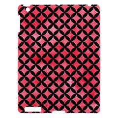 Circles3 Black Marble & Red Watercolor Apple Ipad 3/4 Hardshell Case by trendistuff