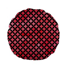 Circles3 Black Marble & Red Watercolor Standard 15  Premium Flano Round Cushions by trendistuff