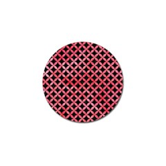 Circles3 Black Marble & Red Watercolor (r) Golf Ball Marker by trendistuff