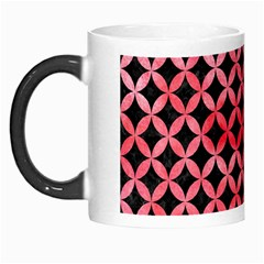 Circles3 Black Marble & Red Watercolor (r) Morph Mugs by trendistuff