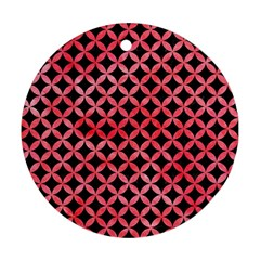 Circles3 Black Marble & Red Watercolor (r) Round Ornament (two Sides) by trendistuff