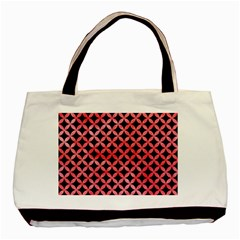 Circles3 Black Marble & Red Watercolor (r) Basic Tote Bag (two Sides) by trendistuff