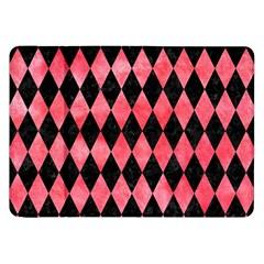 Diamond1 Black Marble & Red Watercolor Samsung Galaxy Tab 8 9  P7300 Flip Case by trendistuff
