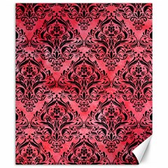 Damask1 Black Marble & Red Watercolor Canvas 20  X 24   by trendistuff