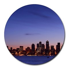Seattle at Dawn Round Mousepad by CustomYourOwn