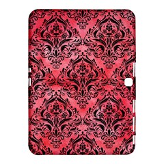 Damask1 Black Marble & Red Watercolor Samsung Galaxy Tab 4 (10 1 ) Hardshell Case
