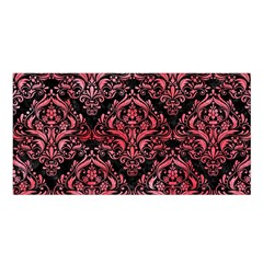 Damask1 Black Marble & Red Watercolor (r) Satin Shawl by trendistuff