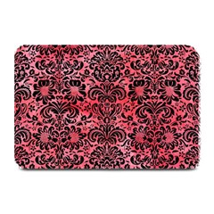 Damask2 Black Marble & Red Watercolor Plate Mats by trendistuff