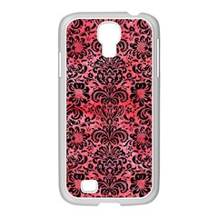 Damask2 Black Marble & Red Watercolor Samsung Galaxy S4 I9500/ I9505 Case (white) by trendistuff