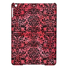 Damask2 Black Marble & Red Watercolor Ipad Air Hardshell Cases by trendistuff