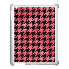 Houndstooth1 Black Marble & Red Watercolor Apple Ipad 3/4 Case (white) by trendistuff