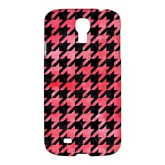 Houndstooth1 Black Marble & Red Watercolor Samsung Galaxy S4 I9500/i9505 Hardshell Case