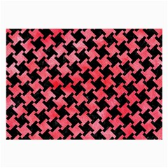 Houndstooth2 Black Marble & Red Watercolor Large Glasses Cloth (2 Side) by trendistuff