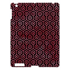 Hexagon1 Black Marble & Red Watercolor (r) Apple Ipad 3/4 Hardshell Case by trendistuff