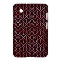 Hexagon1 Black Marble & Red Watercolor (r) Samsung Galaxy Tab 2 (7 ) P3100 Hardshell Case