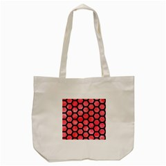 Hexagon2 Black Marble & Red Watercolor Tote Bag (cream) by trendistuff