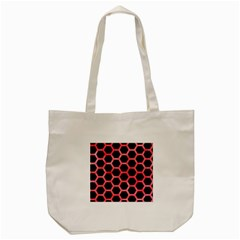Hexagon2 Black Marble & Red Watercolor (r) Tote Bag (cream) by trendistuff