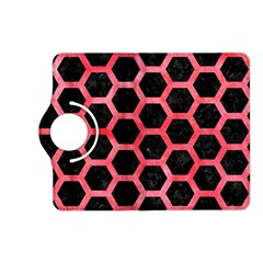 Hexagon2 Black Marble & Red Watercolor (r) Kindle Fire Hd (2013) Flip 360 Case by trendistuff