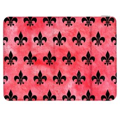 Royal1 Black Marble & Red Watercolor (r) Samsung Galaxy Tab 7  P1000 Flip Case by trendistuff