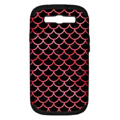 Scales1 Black Marble & Red Watercolor (r) Samsung Galaxy S Iii Hardshell Case (pc+silicone) by trendistuff