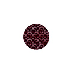 Scales2 Black Marble & Red Watercolor (r) 1  Mini Magnets by trendistuff