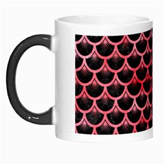 Scales3 Black Marble & Red Watercolor (r) Morph Mugs by trendistuff