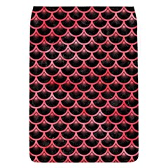 Scales3 Black Marble & Red Watercolor (r) Flap Covers (l)  by trendistuff